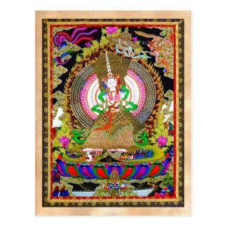 Thangka tibetano oriental fresco Usnisa Postal