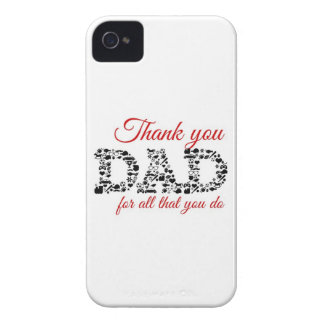 Thank you Dad for all that you do Carcasa Para iPhone 4