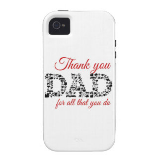 Thank you Dad for all that you do iPhone 4 Carcasa