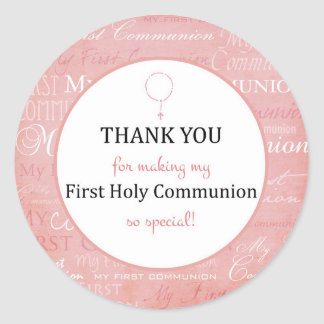 Thank you for coming - First Holy communion tag - Pegatina Redonda