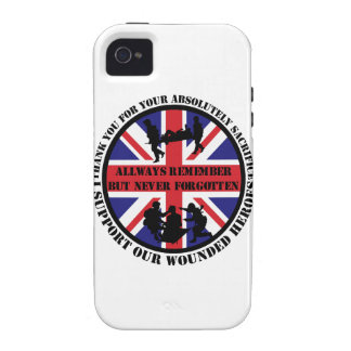 Thank you for your Sacrifice UK Soldiers iPhone 4 Carcasas