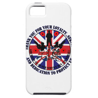 Thank you for your servicio UK Soldiers iPhone 5 Cobertura