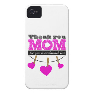 Thank you Mom for you unconditional love Funda Para iPhone 4
