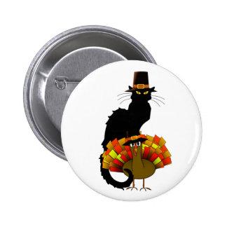 Thanksgiving Le Chat Noir con el peregrino de Turq Pin