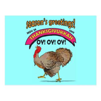 Thanksgivukkah divertido tarjetas postales