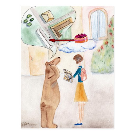 The Girl and The Teddy Postales