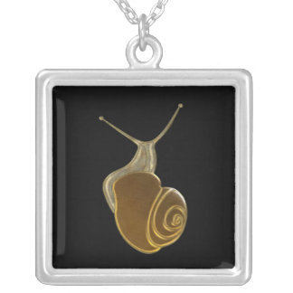 The Lucky Snail brown eXi Colgante Cuadrado