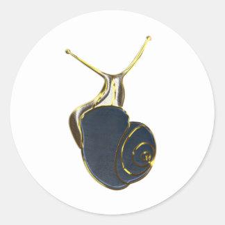 The Lucky Snail Etiqueta Redonda