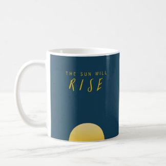 The Sun subirá Taza De Café