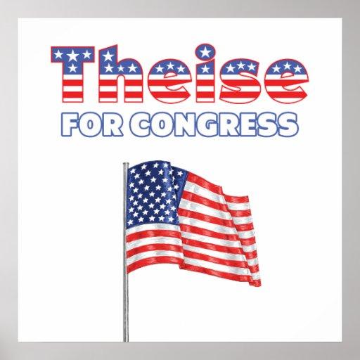 Theise para la bandera americana patriótica del co poster