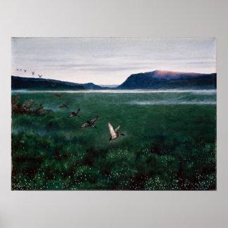 Theodor Kittelsen los doce patos salvajes Póster