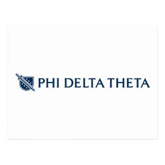 Theta del delta de la phi - logotipo horizontal az tarjetas postales