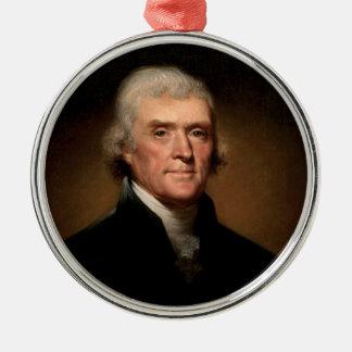 Thomas Jefferson Adorno Redondo Plateado