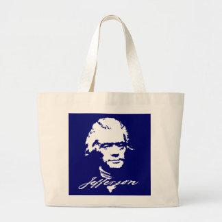 Thomas Jefferson en la pintura blanca Bolsa Tela Grande
