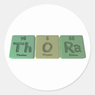 Thora como radio del oxígeno del torio pegatinas