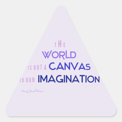 Thoreau: El mundo es lona a la imaginación Calcomanías De Trianguladas