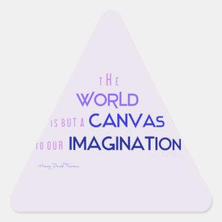 Thoreau: El mundo es lona a la imaginación Pegatina Triangular