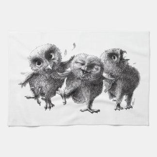 Three not Angry Birds Toallas De Cocina