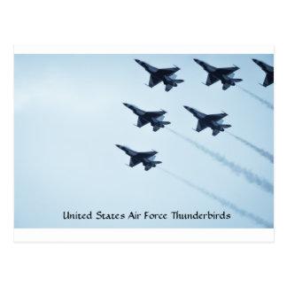 Thunderbirds de la fuerza aérea de Estados Unidos Postal