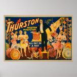 """Thurston, mago principal """"fuera magia de un gorra"""" poster"""