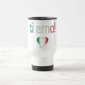 ¡Ti Amo! Colores de la bandera de Italia Taza De Viaje
