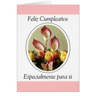 Ti de para del especialmente de Feliz Cumpleaños Tarjeta De Felicitación