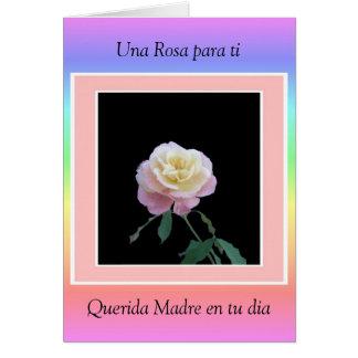 Ti de Una Rosa para, diámetro del en tu de Querida Felicitacion