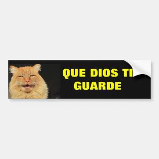 Ti Guarde de Gato - de Que Dios (puede el vigilar Pegatina De Parachoque