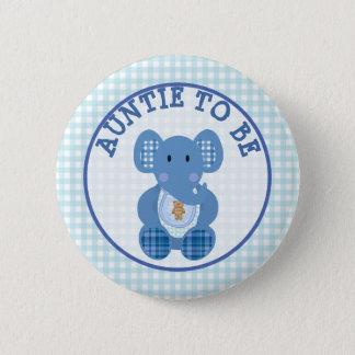 Tía a ser elefante del azul del botón de la fiesta