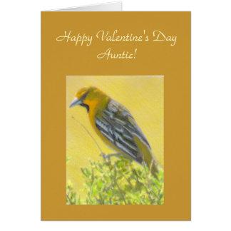 Tía amarilla Template Card de la tarjeta del día