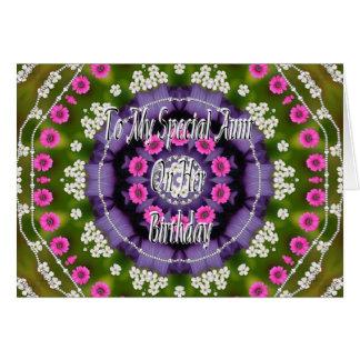 Tía Card del cumpleaños Tarjetón