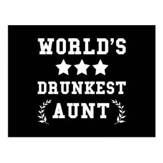 Tía de Drunkest de los mundos Postal