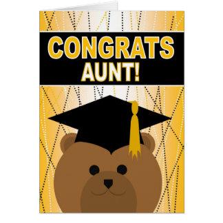¡Tía de la enhorabuena de la graduación! Tarjeta De Felicitación