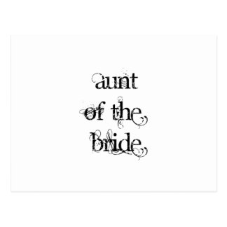 Tía de la novia postales
