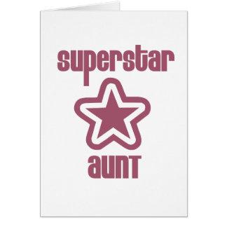 Tía de la superestrella tarjeta de felicitación