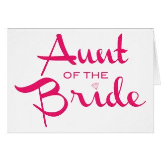 Tía de las rosas fuertes de la novia en blanco tarjetas
