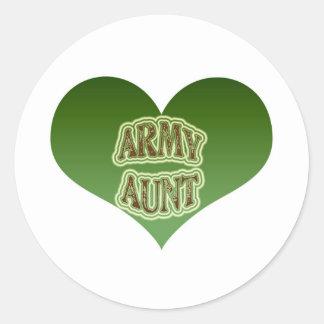 Tía del ejército pegatinas redondas
