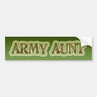 Tía del ejército pegatina para coche