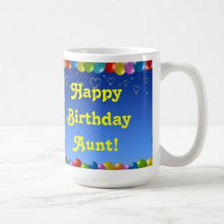 Tía del feliz cumpleaños de la taza