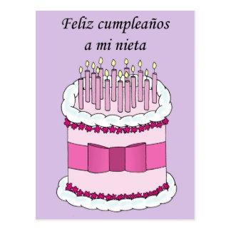 Tía del feliz cumpleaños en español postal