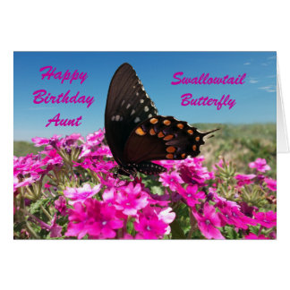 Tía del feliz cumpleaños tarjeta