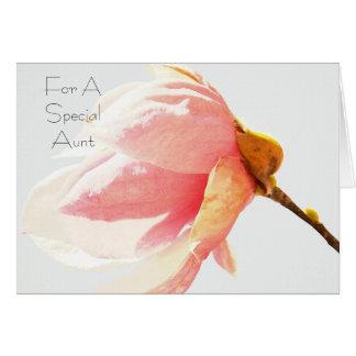 Tía del Special de la flor del árbol de tulipán Tarjeta De Felicitación
