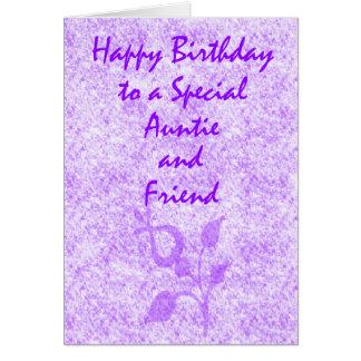 Tía especial Birthday Felicitaciones