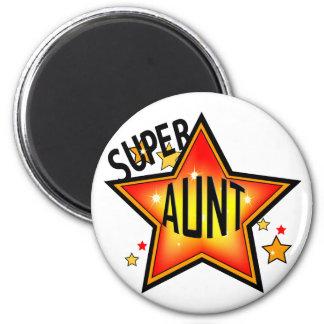 Tía estupenda Funny Magnet de la estrella Imán Redondo 5 Cm