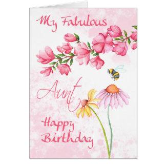 Tía fabulosa, tarjeta floral de la escena del