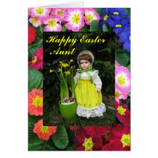 Tía feliz de Pascua Tarjeta