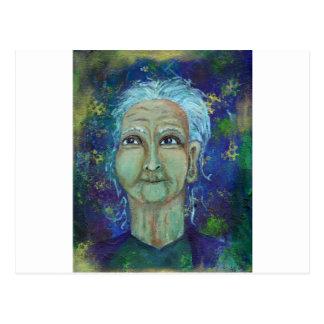 Tía femenina divina Ebb Postal
