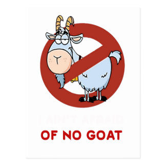Tía I ninguna cabra divertida Postal