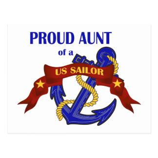 Tía orgullosa de un marinero de los E.E.U.U. Postal