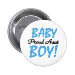Tía orgullosa del bebé chapa redonda de 5 cm